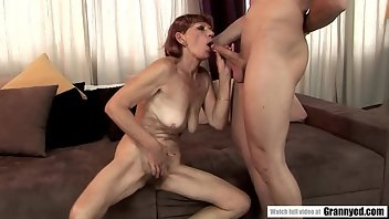 Unshaved Blowjob Mature Redhead
