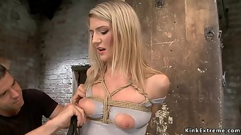 Hogtied Dildo Hardcore Blonde