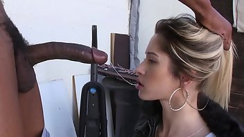 3D Blonde Interracial Blowjob Big Cock