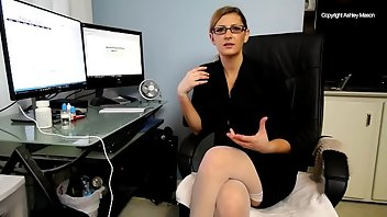 Secretary Blonde Blowjob Teacher