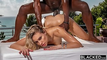 Bush Cumshot Blonde Interracial