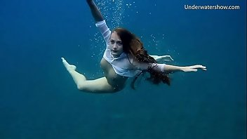 Underwater Brunette Beach Russian