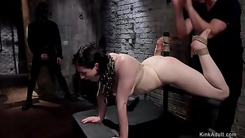 Whipping Hardcore Brunette Rough
