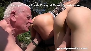 Grandpa Stockings Hardcore Outdoor